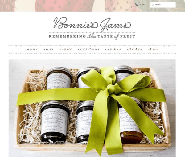 Bonnie's Jams home page