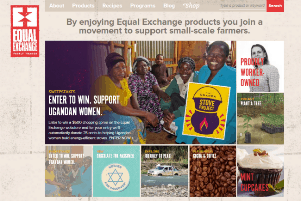 Equal Exchange home page