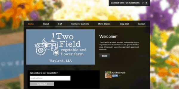 Two Field Farm home page