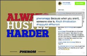 hashtags phenom