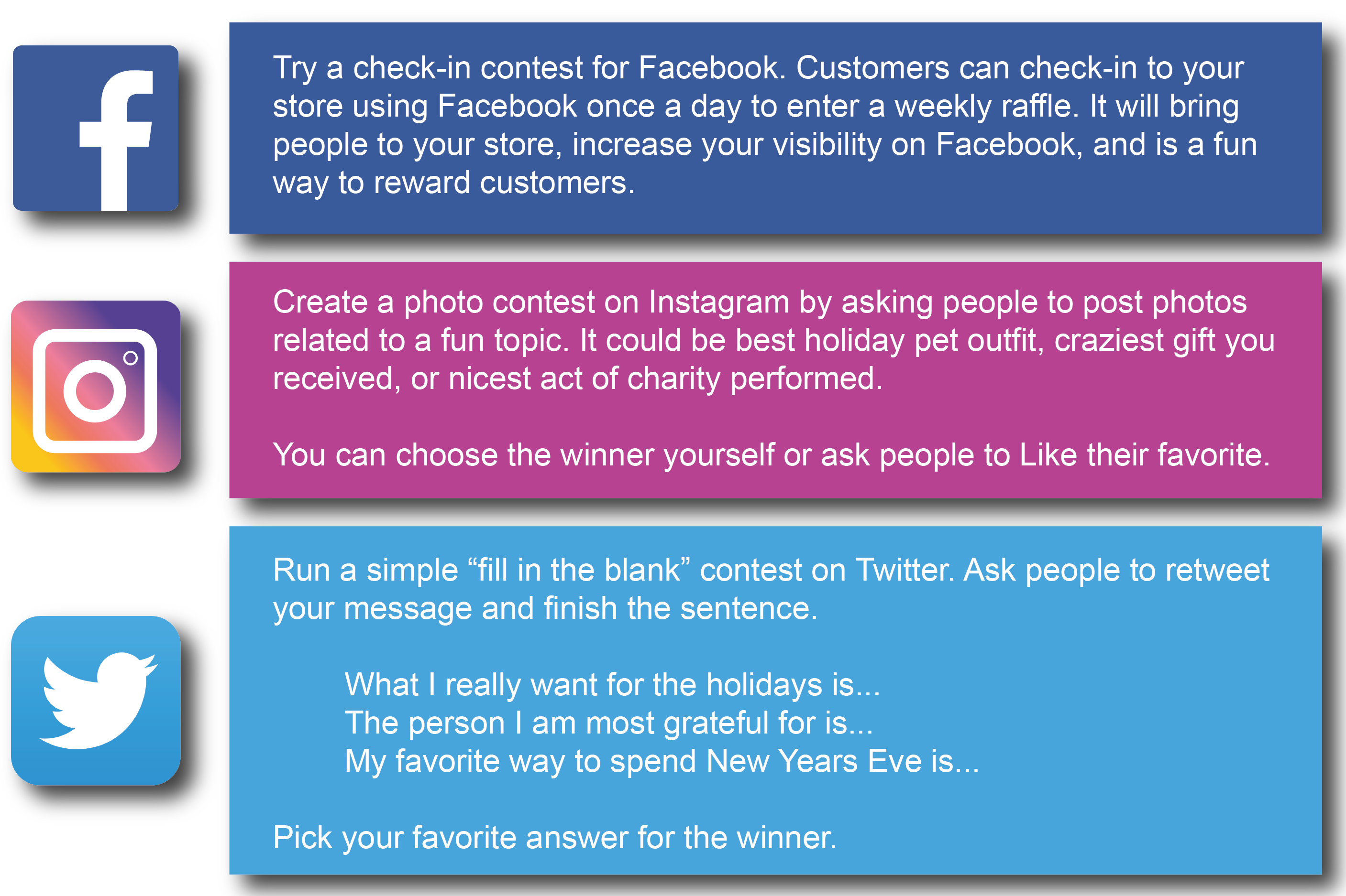 examples of social media contests