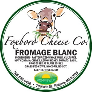 Foxboro Cheese Co. Fromage Blanc