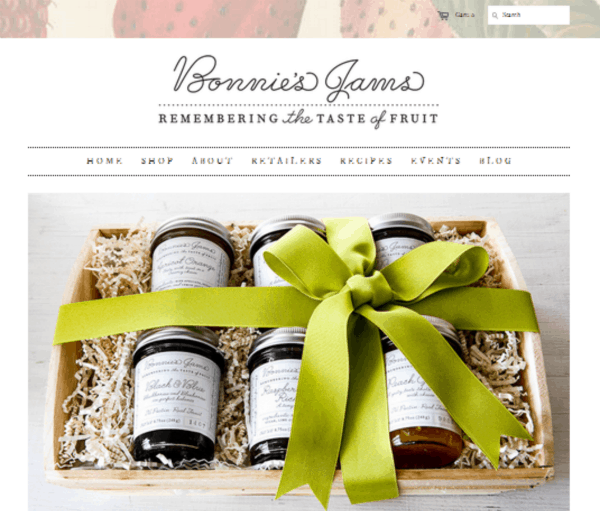 Bonnie's Jams home page