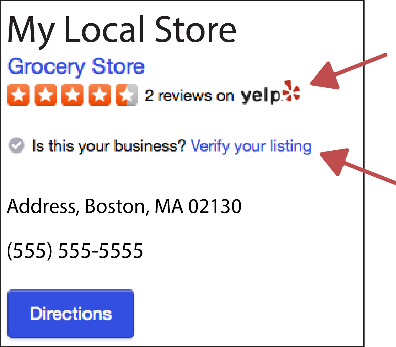 Example Online Listing