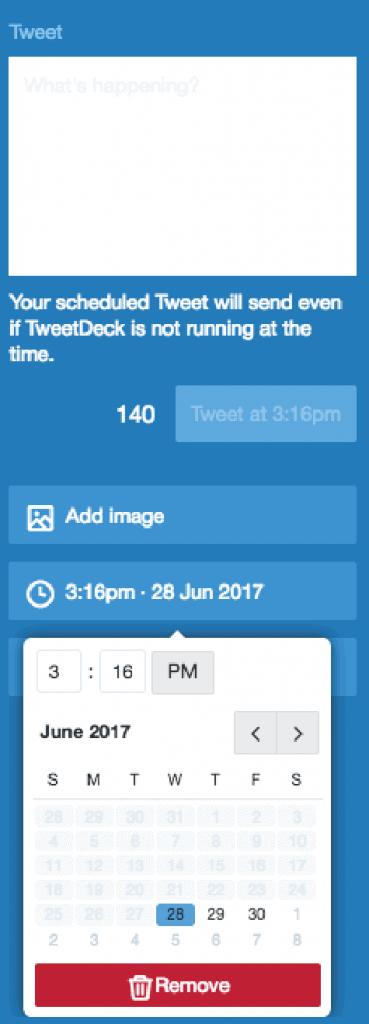 Screen shot of tweet deck