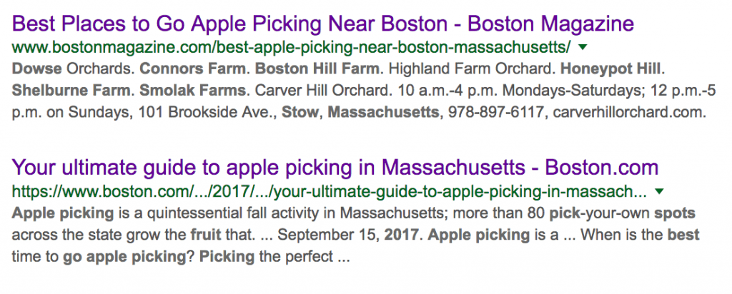 Image of yearly apple picking articles