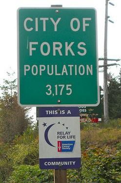 Population sign for Forks