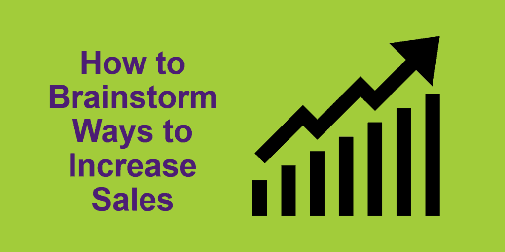 Illustration for How to Brainstorm Ways to Increase Sales